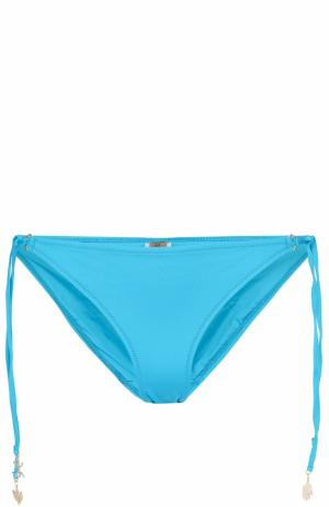 Плавки-бикини с декоративной шнуровкой Lazul. Цвет: голубой