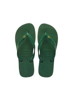 Шлепанцы HAVAIANAS BRASIL. Цвет: зеленый