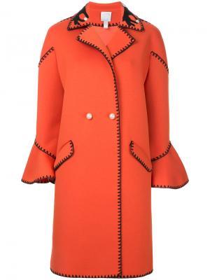 Двубортное пальто Huishan Zhang. Цвет: жёлтый и оранжевый