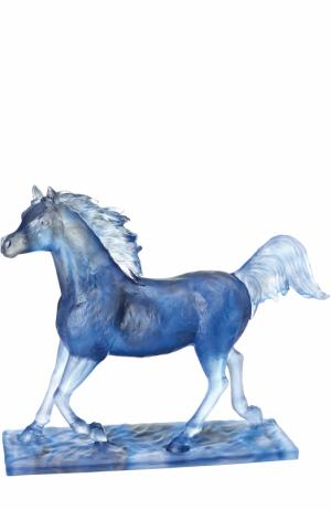 Скульптура Le Majestueux Daum. Цвет: синий