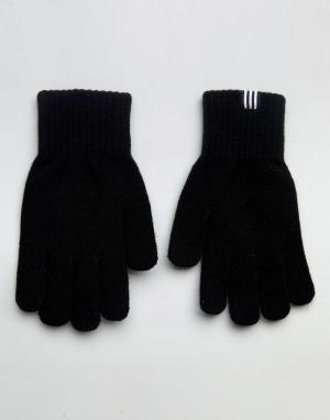 Adidas Originals Черные перчатки. Цвет: черный