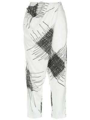 Printed harem trousers Uma | Raquel Davidowicz. Цвет: белый