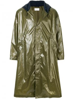 Водонепроницаемое пальто с капюшоном Reality Studio. Цвет: зелёный