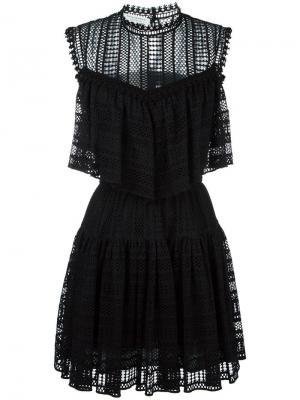 Платье с рюшами Philosophy Di Lorenzo Serafini. Цвет: чёрный