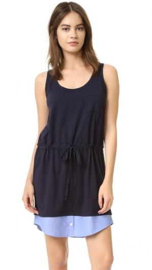 Платье  Too с овально-вырезанным подолом Clu. Цвет: темно-синий