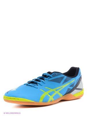 Кроссовки для зала DANGAN ASICS. Цвет: голубой, желтый
