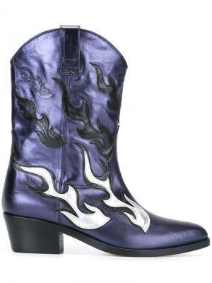 Ботинки в стиле вестерн Chiara Ferragni. Цвет: синий