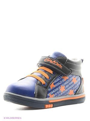 Ботинки San Marko. Цвет: оранжевый, синий