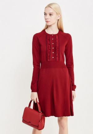 Платье Patrizia Pepe. Цвет: бордовый