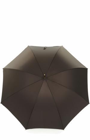 Зонт-трость Pasotti Ombrelli. Цвет: темно-коричневый
