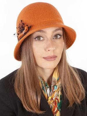 Шляпка LORICCI. Цвет: оранжевый, терракотовый