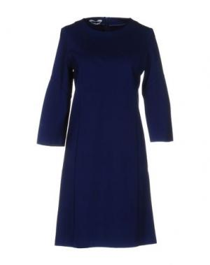 Короткое платье BIANCOGHIACCIO. Цвет: синий
