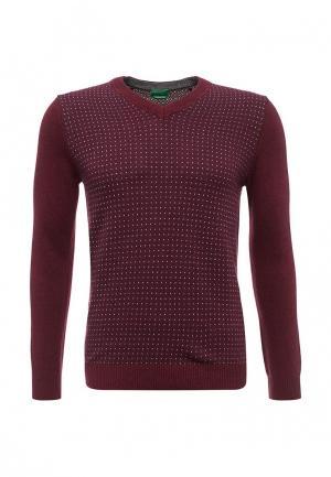 Пуловер United Colors of Benetton. Цвет: бордовый