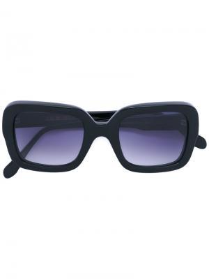 Солнцезащитные очки в квадратной оправе Cutler & Gross. Цвет: чёрный