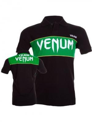 Поло Venum Team - Black/Green. Цвет: черный, зеленый