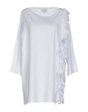 Короткое платье PINK BOW. Цвет: белый