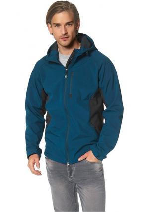 Куртка POLARINO. Цвет: зелено-синий, серо-коричневый, черный
