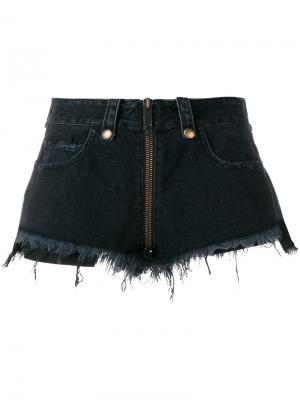 Джинсовые шорты Unravel Project. Цвет: чёрный