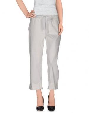 Повседневные брюки ROBERTO COLLINA. Цвет: белый
