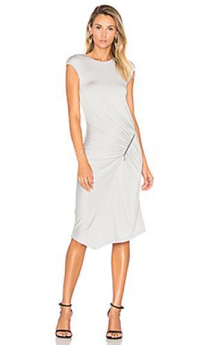 Платье dane sen. Цвет: серый