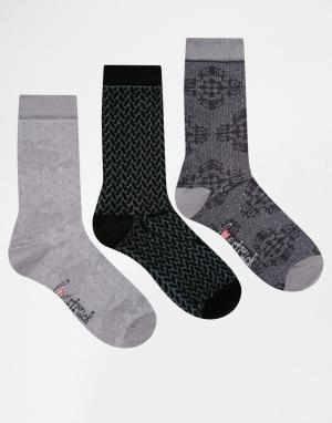 Lovestruck Комплект из 3 пар носков в розовый горошек