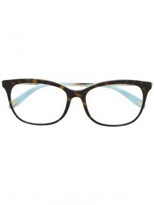 Очки в квадратной оправе Tiffany & Co.. Цвет: коричневый