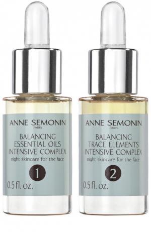 Восстанавливающий баланс кожи интенсивный комплекс с эфирными маслами и олигоэлементами Anne Semonin. Цвет: бесцветный