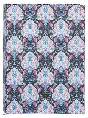 Тетрадь на кольцах 120 листов.Сиреневый орнамент Канц-Эксмо. Цвет: синий, розовый, сиреневый