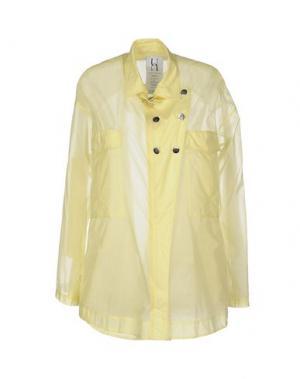 Легкое пальто PINKO UNIQUENESS. Цвет: желтый