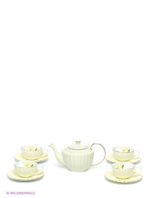 Чайный сервиз Мария Тереза Pavone. Цвет: светло-зеленый, желтый, черный