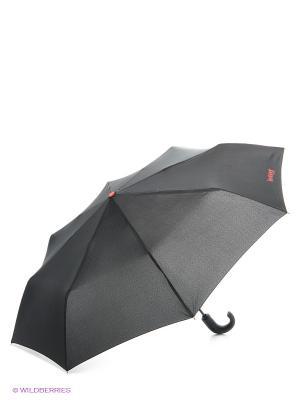 Зонт Isotoner. Цвет: черный