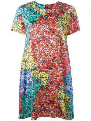 Платье с абстрактным принтом Ultràchic. Цвет: многоцветный