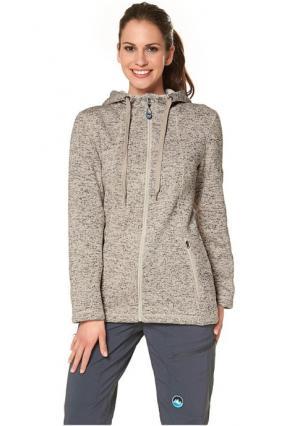Флисовая куртка POLARINO. Цвет: экрю меланжевый