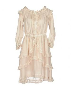 Платье до колена 120% LINO. Цвет: светло-розовый