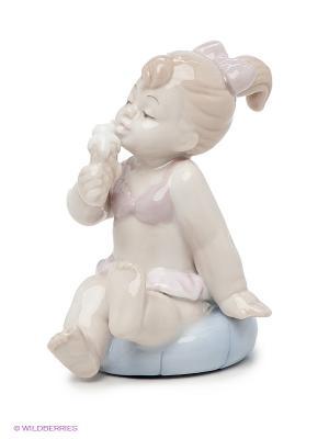 Фигурка Девочка на пляже Pavone. Цвет: белый, светло-бежевый, бледно-розовый, светло-голубой