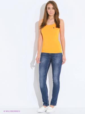 Майка U.S. Polo Assn.. Цвет: желтый