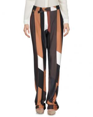 Повседневные брюки LOU LONDON. Цвет: коричневый