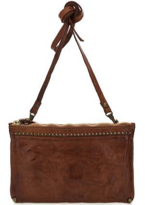 Кожаная сумка с тонким плечевым ремнем Campomaggi. Цвет: коричневый