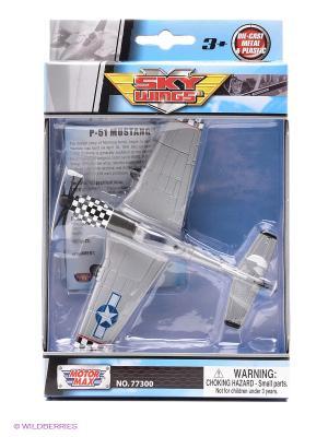 Модель самолета Boeing P51 Mustang масштаб 1к100 Motormax. Цвет: серый