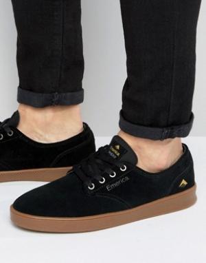 Emerica Черные кроссовки Romero. Цвет: черный