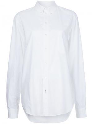 Свободная классическая рубашка Bassike. Цвет: белый