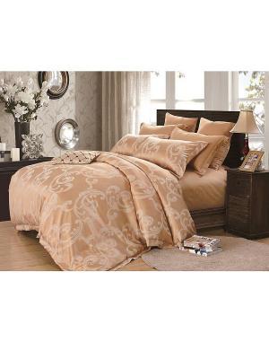 Комплект постельного белья семейный Dream time. Цвет: оранжевый
