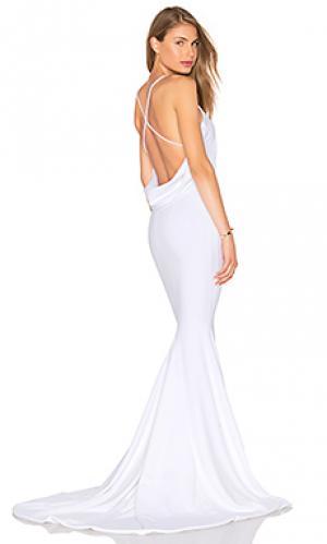 Вечернее платье barthelemy Gemeli Power. Цвет: белый