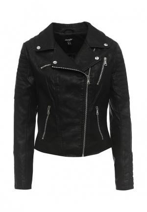 Куртка кожаная Jennyfer. Цвет: черный