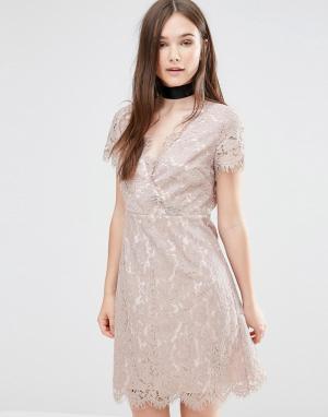 Darling Кружевное платье Ambar. Цвет: бежевый