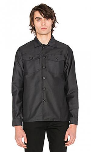 Куртка-рубашка fatigue 3sixteen. Цвет: синий