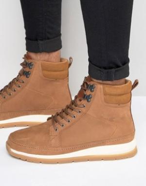 Boxfresh Кожаные ботинки Loadha. Цвет: коричневый