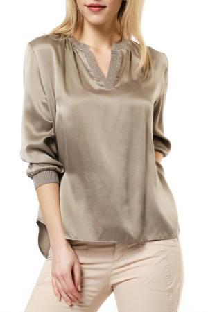 Блузка REPEAT. Цвет: бежевый