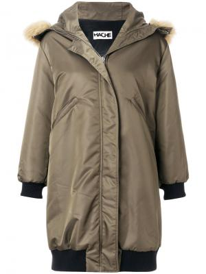 Пальто-парка с капюшоном Hache. Цвет: серый
