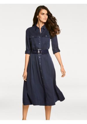 Платье-рубашка PATRIZIA DINI by Heine. Цвет: синий